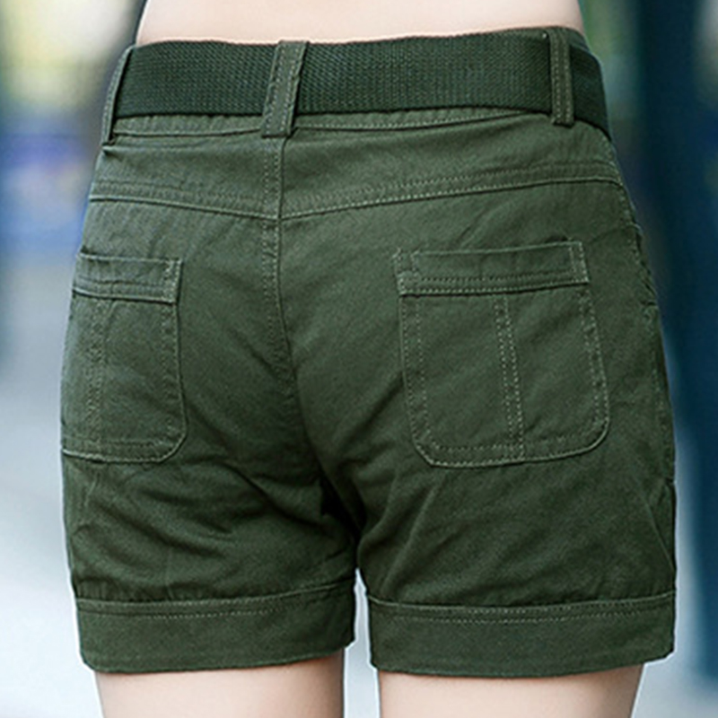 BabYoung Workout Shorts Women Shorts Army Green Military Camouflage - Women's Clothing - Photo 3