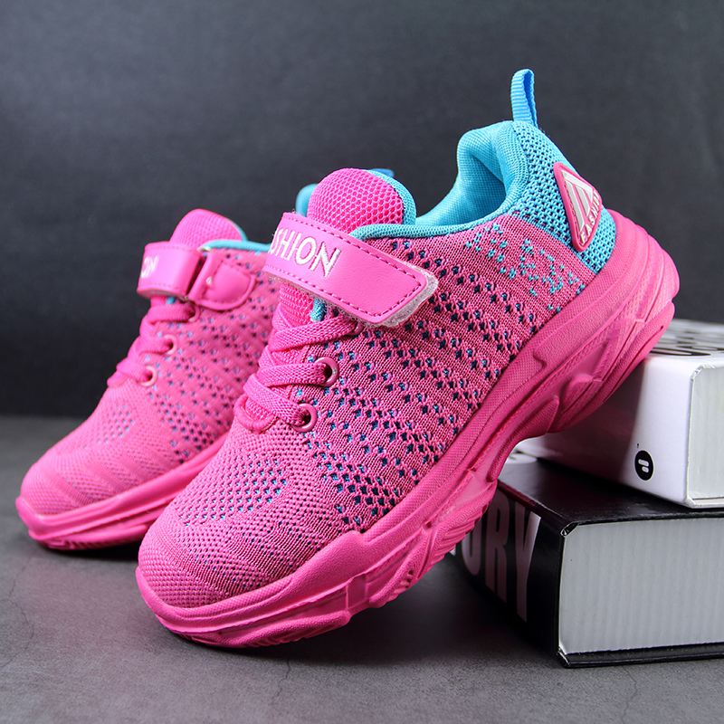 Thestron Running Shoes Children Sports Blue Pink Running Shoes Girls Fashion Kids Sports Girls Kids Summer Teenage Boys Shoes in Running Shoes from Sports Entertainment