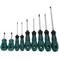 PENGGONG 9 sztuk zestaw wkrętaków śrubokręt szczelinowe plastikowy uchwyt magnetyczny wygodna torba narzędzia do naprawy w Zestawy narzędzi ręcznych od Narzędzia na