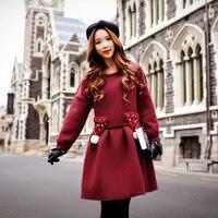 Gốc phụ nữ ăn mặc mùa thu và mùa đông chất lượng cao big sizes fashion đẹp thoải mái váy màu rắn bán buôn