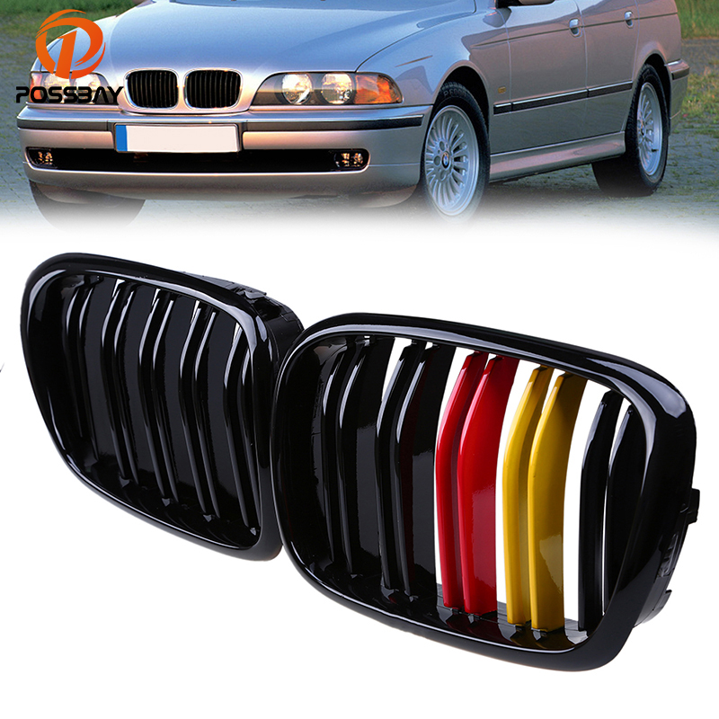 POSSBAY Newest German Flap Style Painting Gloss Grilles for BMW 5 Series E39 M5 1998 1999