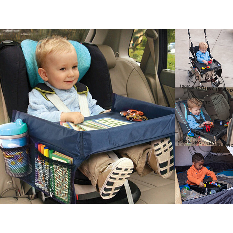 high quality waterproof table car seat tray storage kids toys infant stroller holder for children kids baby rattles car styling