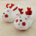 Cute Cartoon reindeer Winter children slippers boys girls slippers winter kids household shoes Soft kids winter shoes