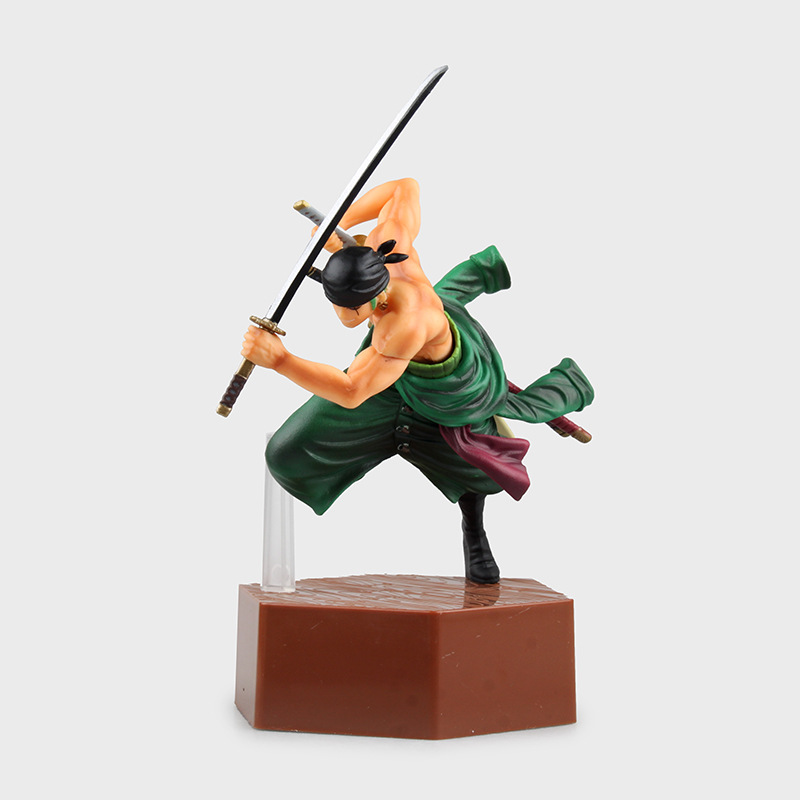 SAINTGI One Piece Japanese Anime Roronoa Zoro Luffy Onepiece New World Action Figure Toys Juguete 20cm PVC Kids Collection Model one piece japanese anime nami new world wedding dress collection model toys 20cm