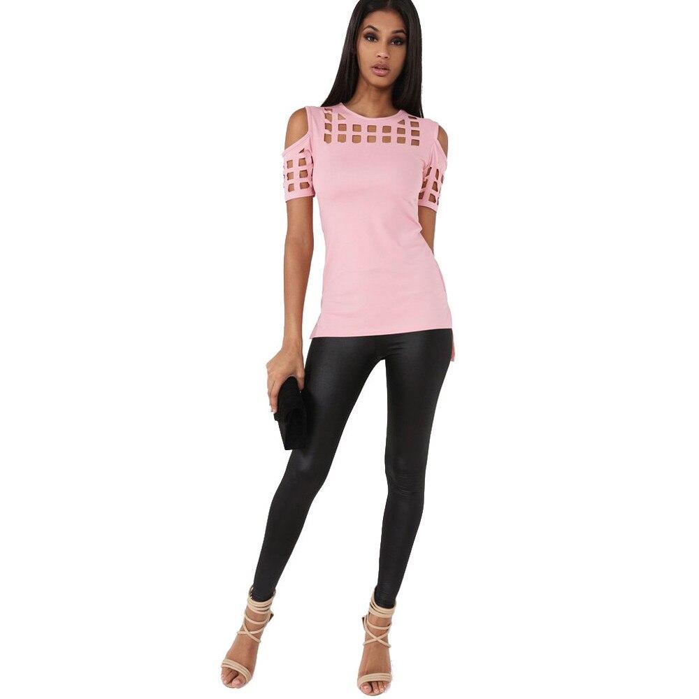 HTB1v2IUOFXXXXX.XVXXq6xXFXXX7 - T-shirts Women Fashion Off The Shoulder Hollow Out Short Sleeve