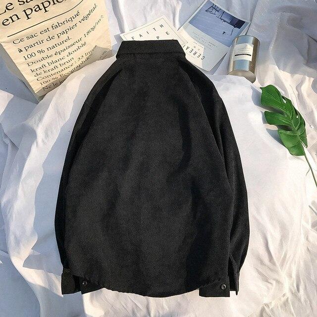 Corduroy Material shirt men 4