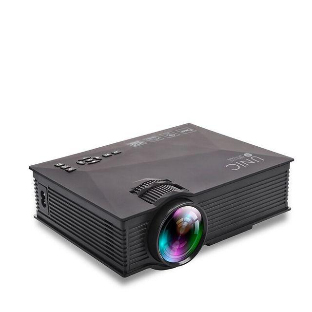 Original uc46 unic lcd mini proyector portable 1200 lúmenes de cine en casa projetor 2.4g wifi soporte hdmi av usb sd ir