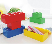 Chubs Stackable Empty Building Block Creative Storage Containers Organize Box