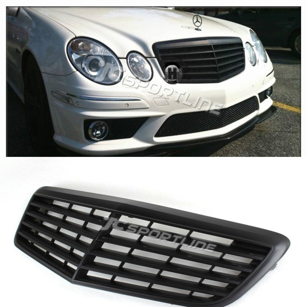 W211 ABS Dumb black font b car b font grille for benz auto bumper grill grille