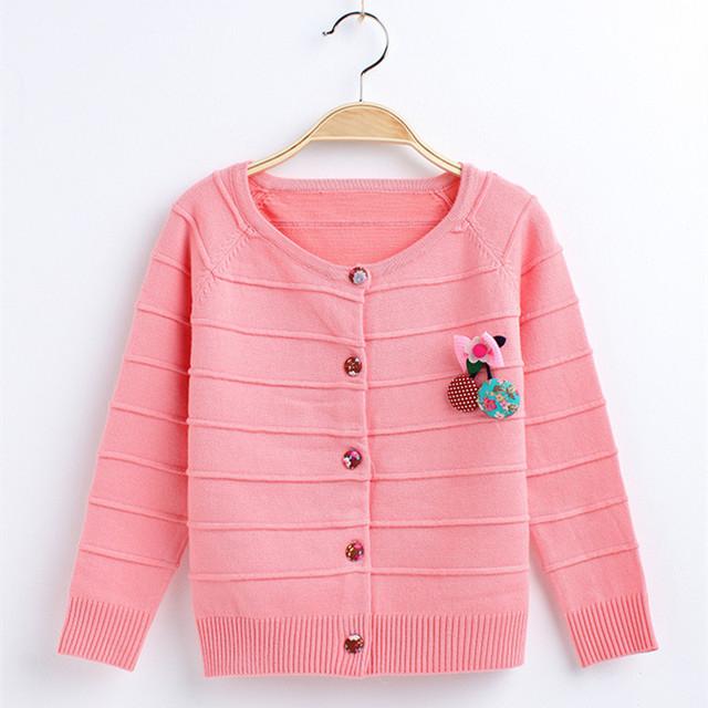 Novas Meninas Camisola de Algodão Floral Abrir Ponto T-shirt Do Bebê Meninas Camisola 2017 Primavera Outono Crianças Tops & t Roupas Casuais hx038