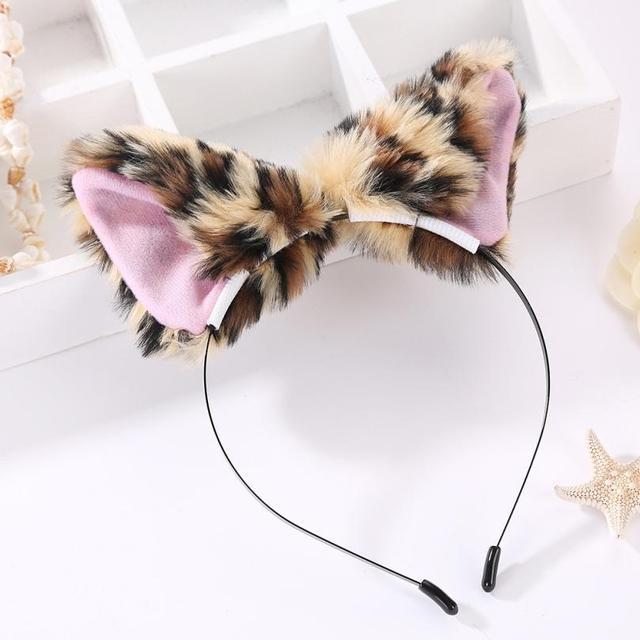 Women Headbands Fox Ear Headband Headwrap Plush Cat Ears Boutique Children Hard  Headband Photography Props Girls Accessories ba259c5db51