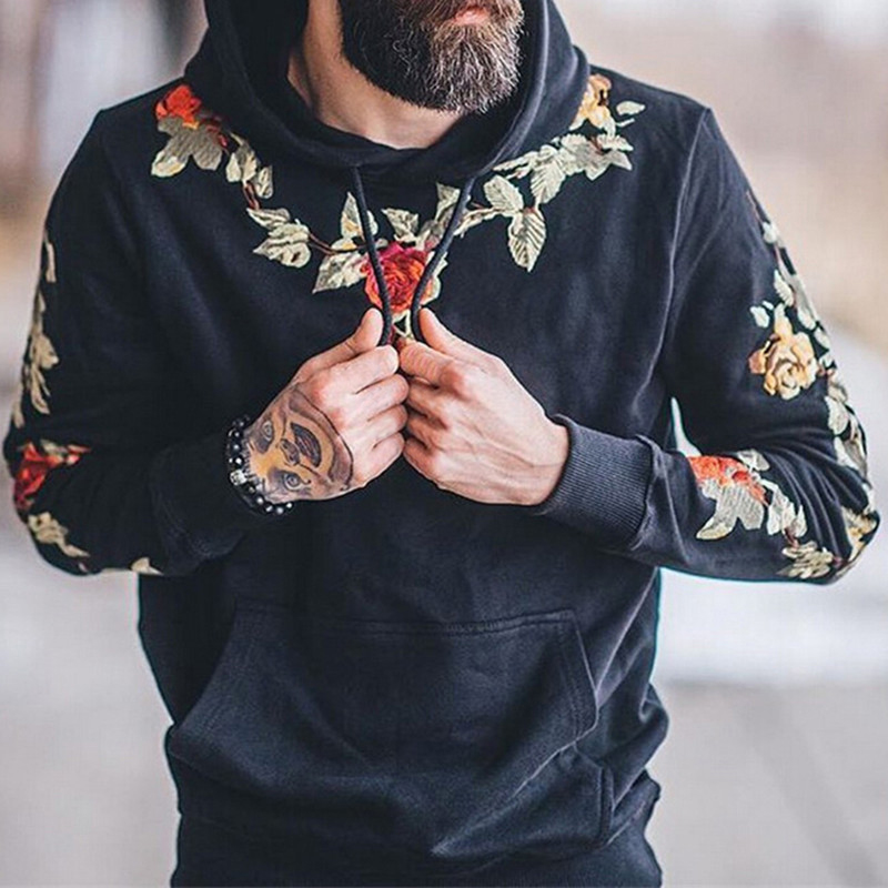 New Autumn Hoodies Hiphop Mens Sweatshirts Long Sleeve Embroidery Casual Pullover Joggers Sweatshirt Hoody Mens Clothing Hombre
