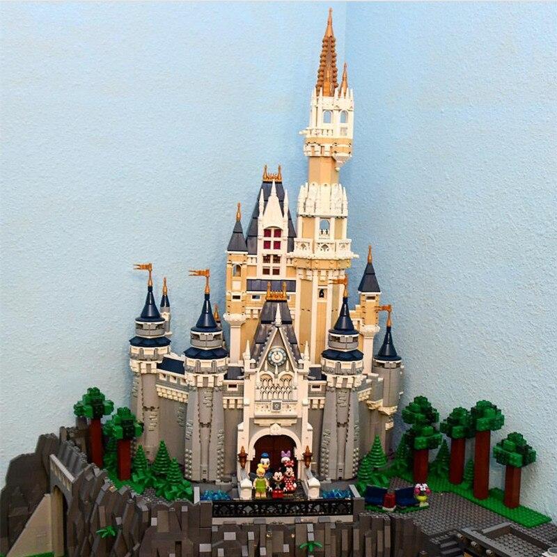 16008 4080PCS Cinderella Princess Castle City Sets Compatible 71040 Model Building Blocks Bricks Kids Girls Toys