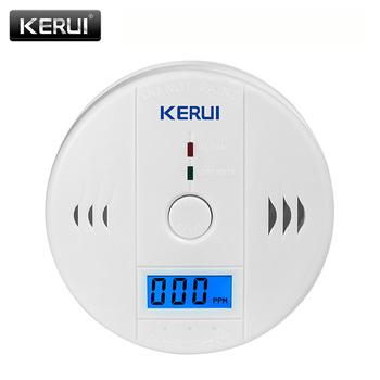 Fotoelektryczny LCD tlenek węgla bezpieczeństwo w domu ochrony 85dB ostrzeżenie wysoka wrażliwość niezależne czujnik gazu CO detektor alarmu tanie i dobre opinie KERUI JKD-602 Detektory tlenku węgla Carbon Monoxide Detectors
