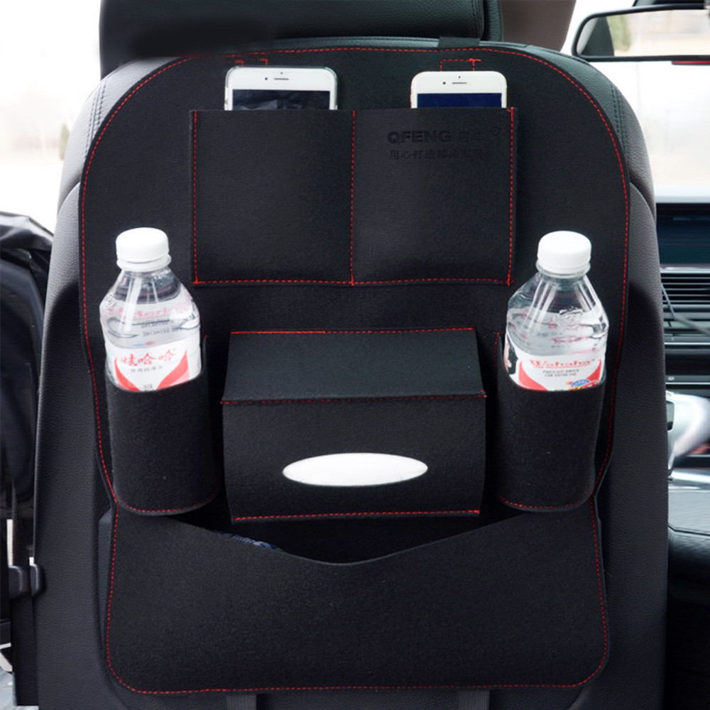 Auto Car Seat Back Multi-Pocket Storage Bag Organizer Holder Accessory
