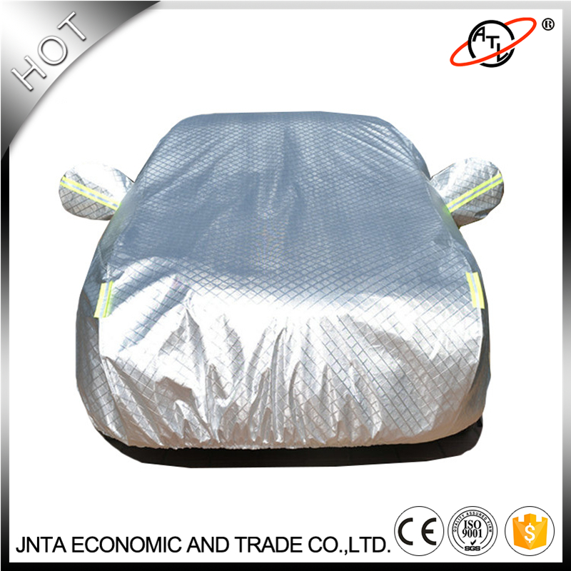 ATL D6K thicken high density flocking car cover, aluminum film silver, UV block Waterproof  dust and hail resistance