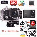 Frete grátis! gitup git2 pro novatek ntk96660 helemet dv câmera de ação de esportes ao ar livre sem fio wifi 2 k + 44 in1 kit de acessórios
