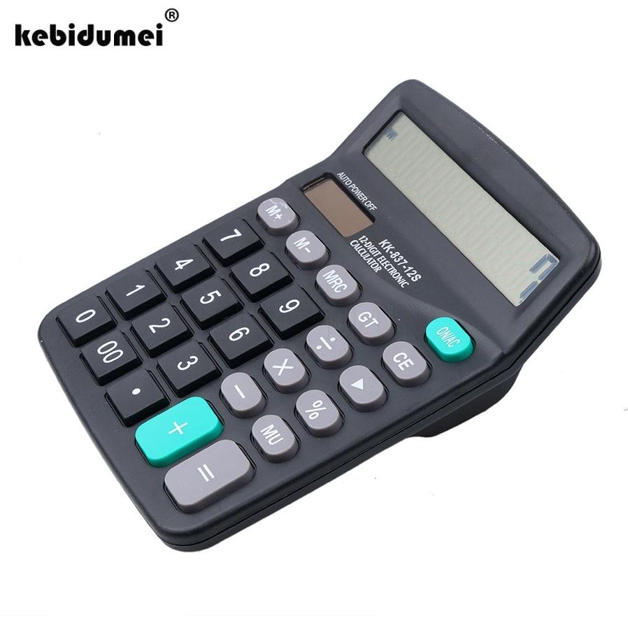 Портативный офисный электронный калькулятор, мини-коммерческий инструмент, аккумулятор на солнечной батарее 2 в 1, работающий от 12 цифр с бо...