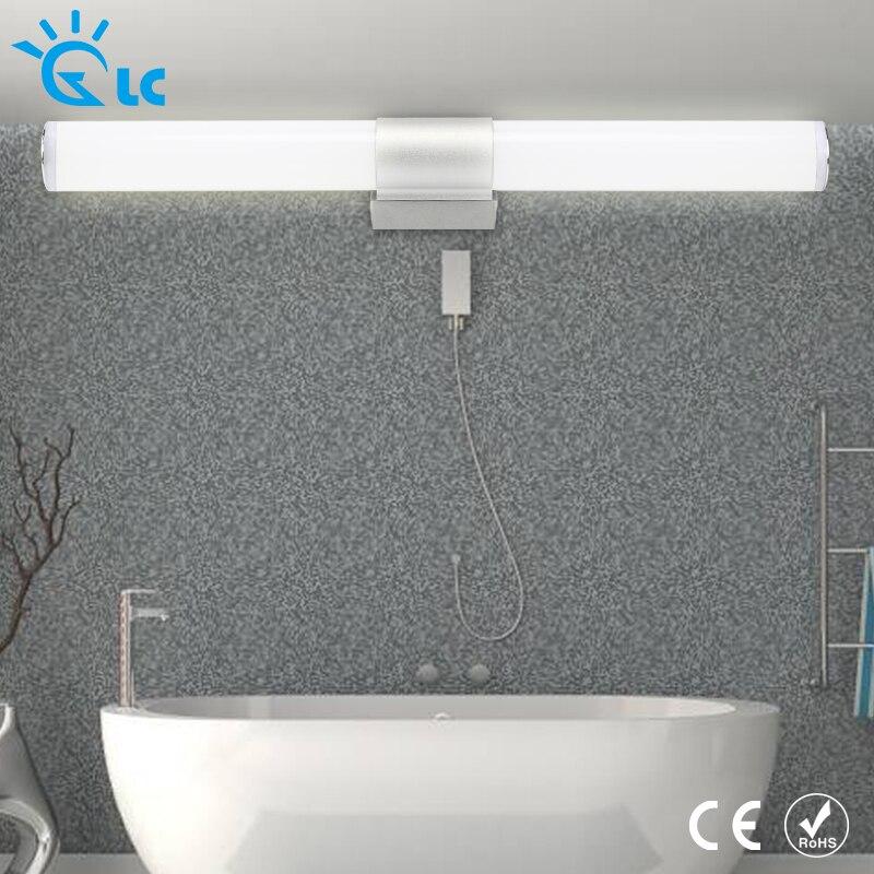 Современные светодиодные Настенные светильники для ванной комнаты зеркальные 12