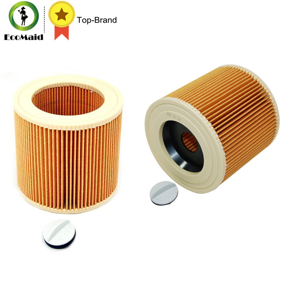 Replacement Filter for Karcher A/WD Series Vacuum Cleaner Cartridge Filter for A2004 WD2.250 Vacuum Cleaner Acc Spare Part 2pcs replacement filter for karcher a wd series vacuum cleaner cartridge filter for a2004 wd2 250 vacuum cleaner acc spare part 2pcs