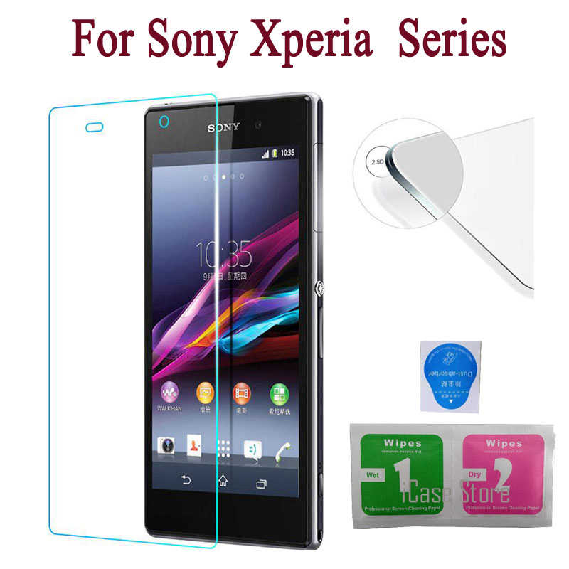 2.5D 9H Screen Protector Tempered Glass for Sony Xperia M4 Aqua X XA M5 Z L36H Z1 L39H Z2 Z3 mini Compact Z4 Z5 Toughened Film