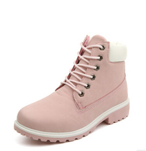 Women Boots PU Leather Platform Women Shoes Suede Rubber Women Ankle Boots Timber Boots Martin brand Shoes