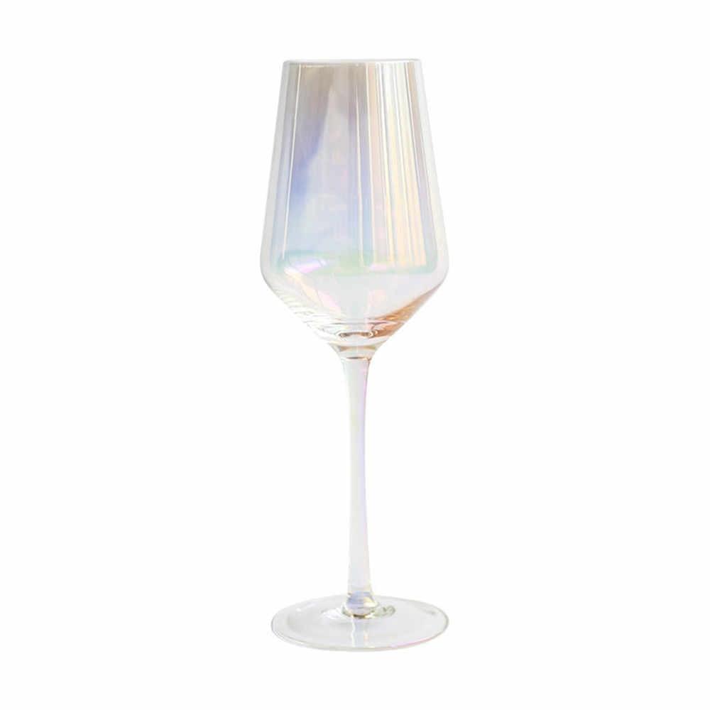 Calici Vino E Acqua arcobaleno di cristallo di vetro calici di vetro di vino colorato bere  succo di champagne del partito calice bar, utensili e accessori cena tazza  di