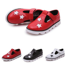 2017 New Summer Baby Girls Sandals Children Stars Style Genuine Leather Shoes Boys Kids Party Shoes Size 26~36 Sandalia Infantil
