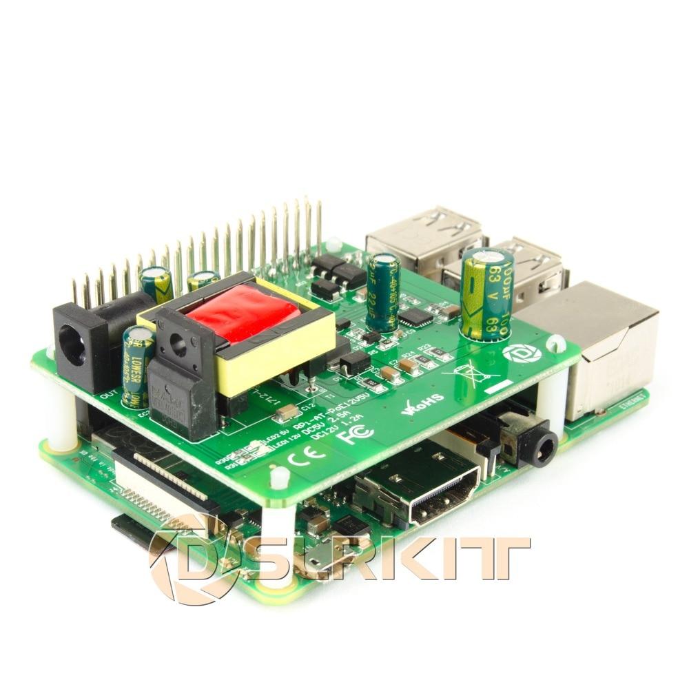 DSLRKIT 5V 12V PoE HAT Raspberry Pi 4 4B 3B+ 3B Plus 3.5in Hard Disk Drive LED 26Watt