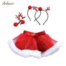 ARLONEET faldas para niñas niños de Navidad falda de princesa TUTU falda  pettiskirt + diadema traje de Navidad falda del bebé 1d74862e2ec5