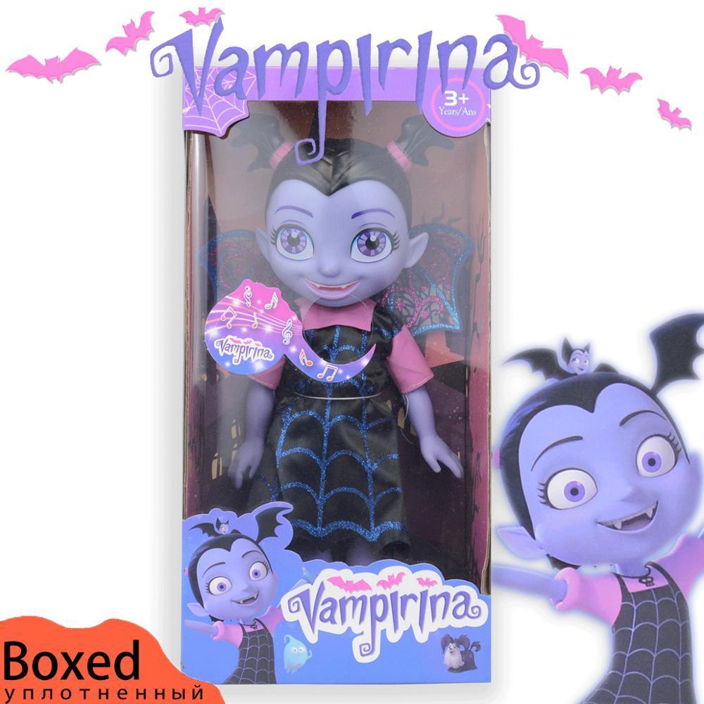 34cm Vampire Toys Junior Vampirina Toys Dolls With Light & Music Toys The Vamp Batwoman Girl Figure Toys For Children Brinquedos