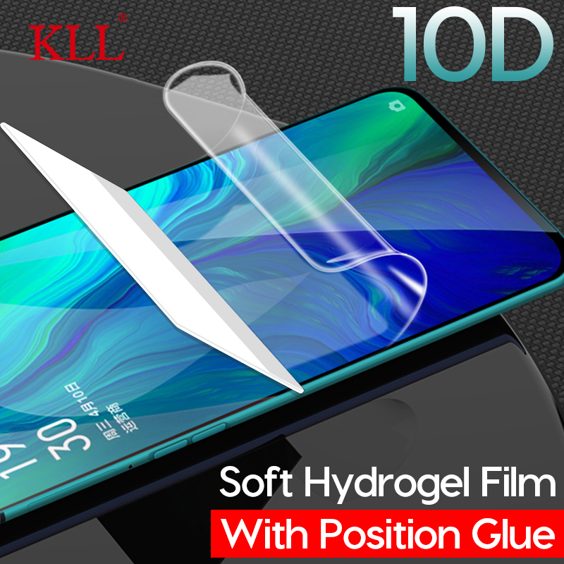 10D Full Cover Soft Hydrogel Film For OPPO Reno Z 10x Zoom F11 Pro F9 F7 A7x A7 K1 Screen Protector For OPPO R17 RX17 Pro R15x