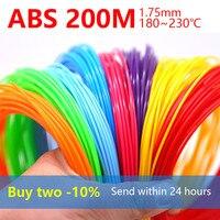 3d עט filamen abs1.75mm abs 3d הדפסת עט אספקת 3 d עטים בטיחות פלסטיק הטוב ביותר מתנה 20 צבע לקנות שני -10% לשלוח בתוך 24h
