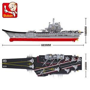 Image 2 - 1059Pcs Military Creator Building Blocks Sets ARMY 1:450 Aircraft Carrier Cruiser Warship Juguetes Weapon Educational Kids Toys