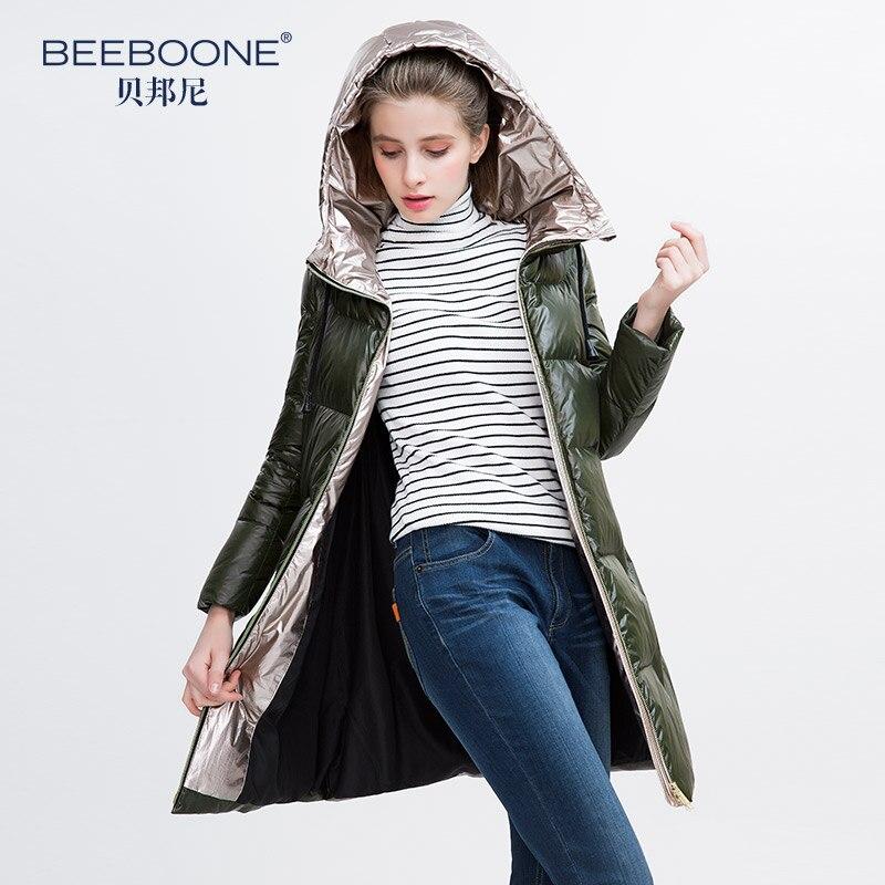 Couleur Vestes 2019 Canard Blanc 90 Femmes Chaud Contraste Vers Nouveauté Capuche Long Duvet Manteau Le De Bas XXqvaf