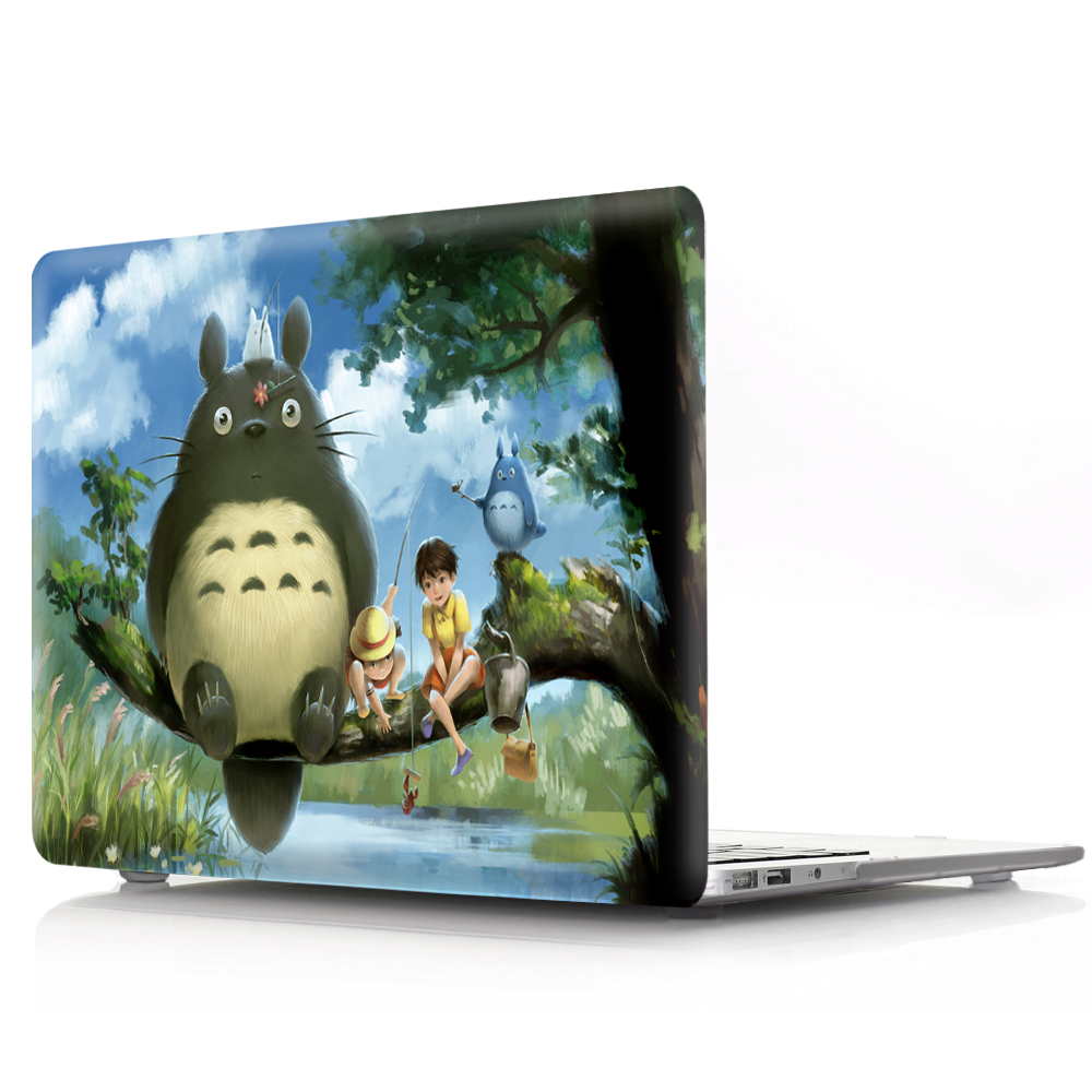 Image 3 - Totoro color printing shell notebook case for Macbook Air 11 13 Pro Retina 12 13 15 inch   for New Air 13  or New Pro 13 15-in Laptop Bags & Cases from Computer & Office