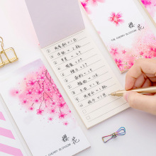 Get more info on the 3 pcs Cherry blossom memo pad Sakura flower agenda list notepad diary Daily planner Stationery Office School supplies F060