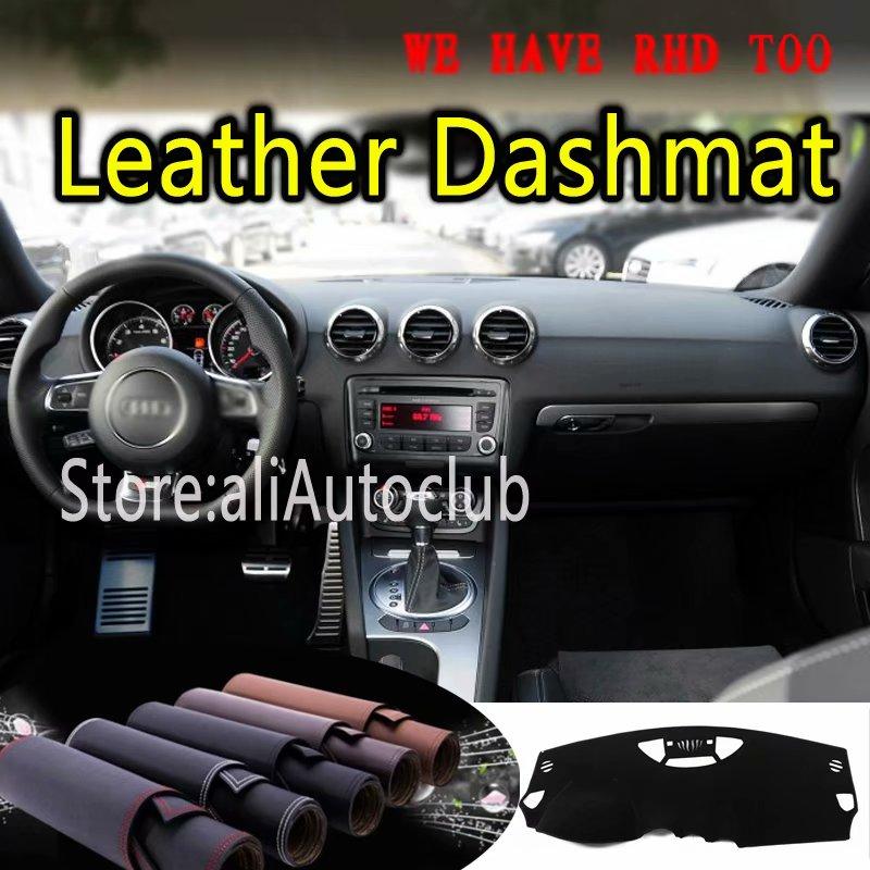 For Audi TT TTS COUPE 2006 2007 2008 2009 2010 2011 2012 2014 Leather Dashmat Dashboard Cover Dash Mat Carpet Custom Car Styling