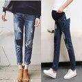 Zero Stretch Denim Jeans Maternidade Mulheres Grávidas Calças Lápis Primavera Calças Roupas Gravidez maternidade Capris Jean YL504