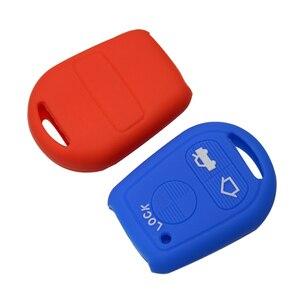 Image 3 - Okeytech 3 Nút Silicon Remote Chìa Khóa Ô Tô Ốp Lưng Khóa Dành Cho Xe BMW E31 E32 E34 E36 E38 E39 E46 Z3 z4 E90 E60 Tự Động Khóa Bảo Vệ Da