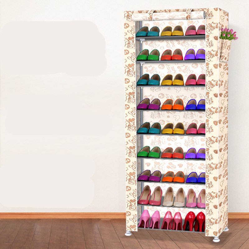 Simple shoe racks Multilayer stainless steel cloth shoe cabinet 9 layer shoe rack assembly dustproof economy home игровой домик marian plast palplay 667