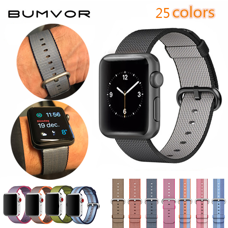 BUMVOR Sport woven nylon band strap wrist bracelet belt fabric-like nylon band for iwatch 4/3/2/1 for apple watch 44/40/42/38MM mu sen woven nylon band strap for apple watch band 42mm 38 mm sport fabric nylon bracelet watchband for iwatch 3 2 1 black