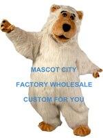 Lông thú màu trắng boris gấu mascot trang phục sân khấu quảng cáo trang phục mascotte mascota outfit suit fancy dress ems tàu miễn phí sw502