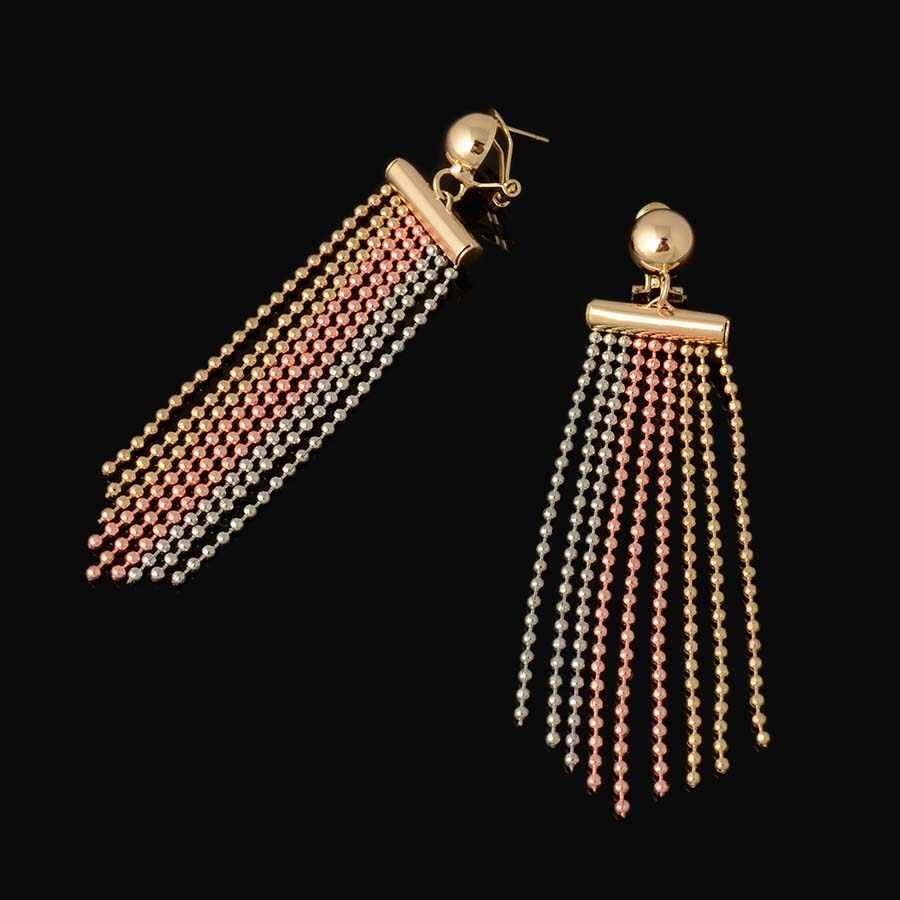 3 tones New High Quality Dubai Jewelry Set  Nigerian Wedding African Jewelry Sets Parure Bijoux Femme