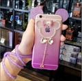 Роскошные 3D блеск Микки Маус Уши телефон Случае Для iPhone 5s se 6 6 S 6 плюс Мода bling диаманта Rhinestone Уха Крышка shell капа
