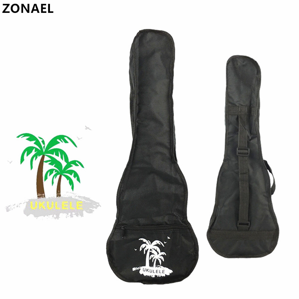ZONAEL 212326'' Hot Sale Soprano Concert Tenor Ukulele Waterproof Bag Case Backpack Guitar Bag Case Guitar Parts & Accessories 12mm waterproof soprano concert ukulele bag case backpack 23 24 26 inch ukelele beige mini guitar accessories gig pu leather