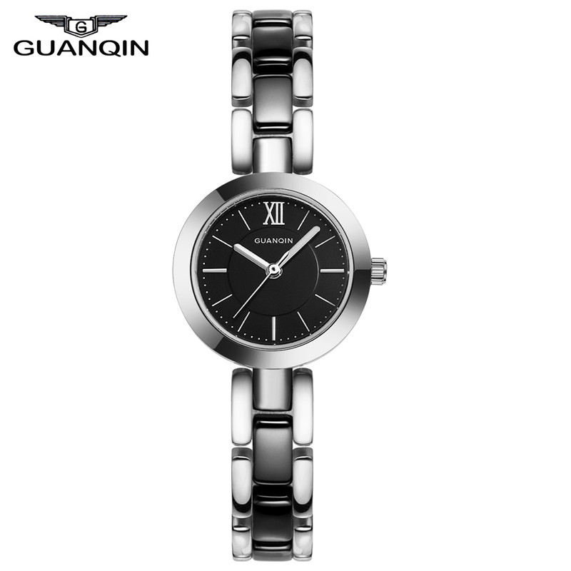 ФОТО GUANQIN GQ17001 Watches Women Luxury Lady Quartz Watch Ladies Fashion Casual Clock Ceramic Bracelet Wristwatch relogio feminino