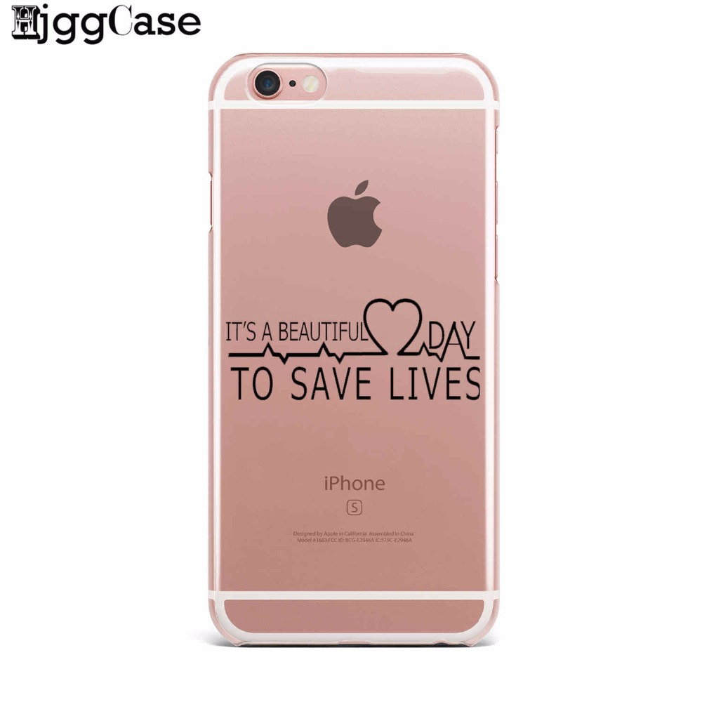 My Person For Fundas Iphone 7 5 SE 5S 6 6S Plus Greys Anatomy TPU Soft