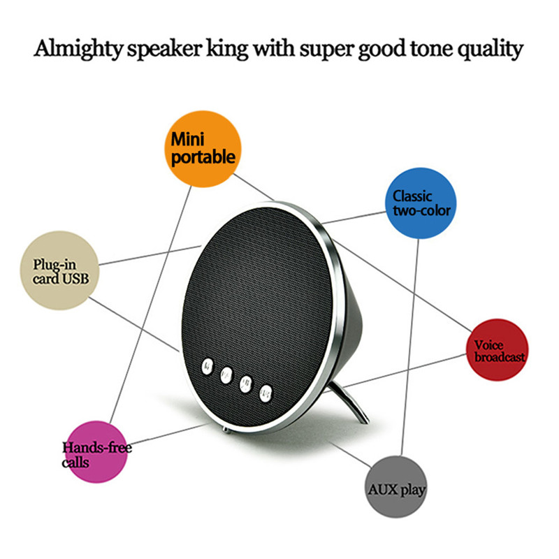 Portable Bluetooth Wireless Speaker With 3W Power Touch Button Support APP caixa de som Computer Speakers