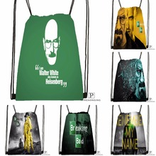 Custom Breaking Bad Drawstring Backpack Bag Cute Daypack Kids Satchel (Black Back) 31x40cm#180531-03-71